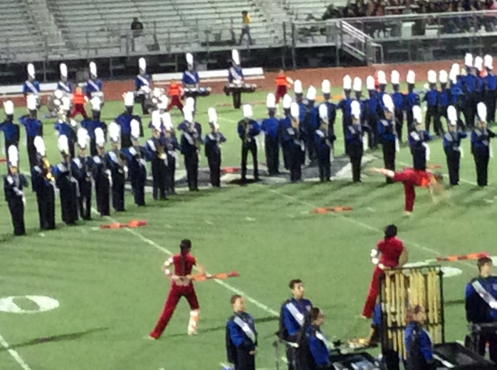 Image: The marching band as seen thru my iPad